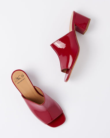 Leon Slide in Raspberry Patent