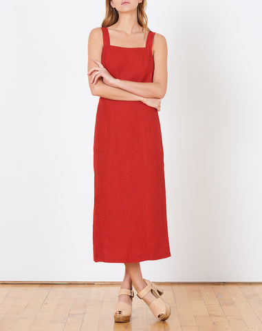 Mandy Crossback Dress in Tomato