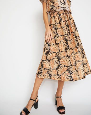 Meg Skirt in Brown Fern