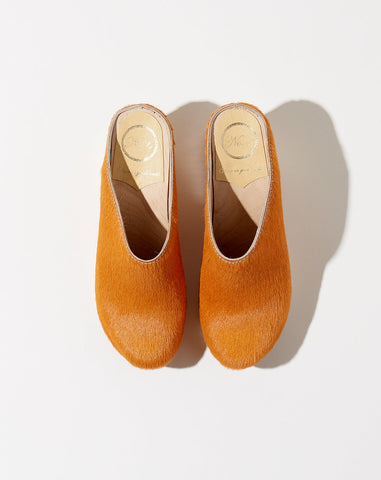 New School Clog on Wedge in Clementine Pony