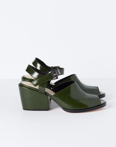 Nico Sandal With Ankle Strap in Bottle Leather