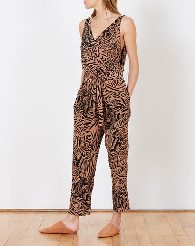 Taylor Jumpsuit in Clay Safari
