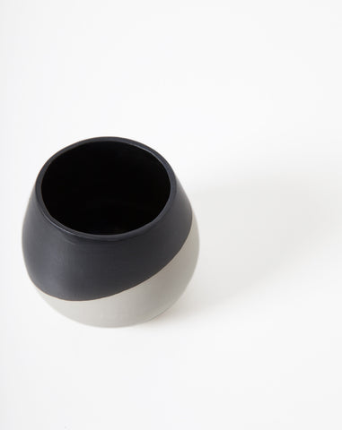 Thelma Bowl in Gray and Black