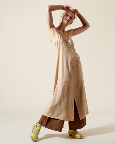 Palma Wrap Dress in Conch