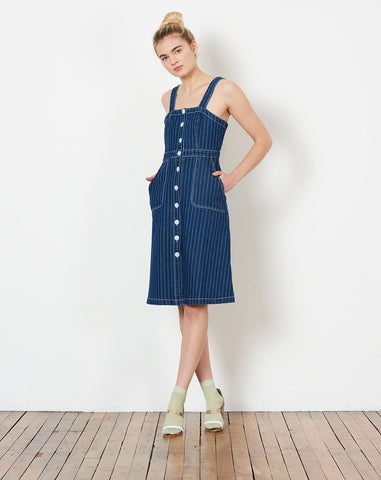 572ac307dd Rachel Antonoff. $328.00 $164.00. Alma Button Down Dress in Railroad Stripe  ...