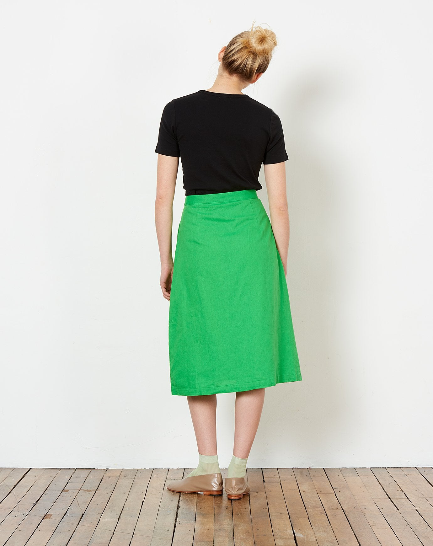 fba9c60a38 Rosemary Button Down Skirt in Kermit Green | Rachel Antonoff | Covet ...