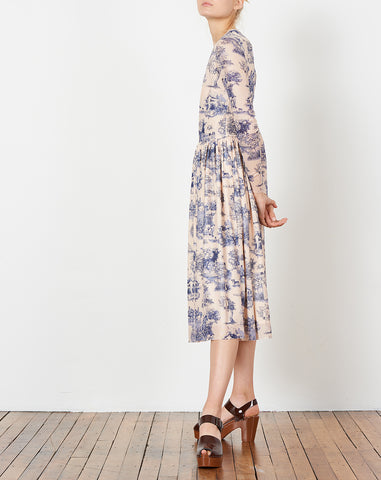 Van Midi Dress in Manhunt Toile