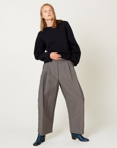 Cropped Divide Pant in Ash