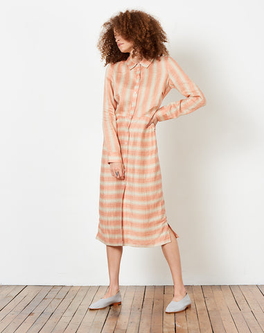 Magnify Dress in Blush High Line Stripe