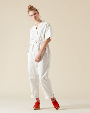 Pitch Jumpsuit in White