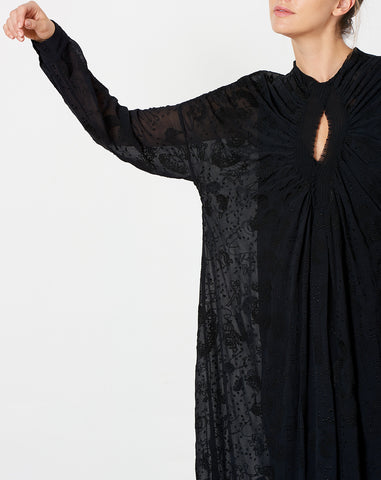 Siphon Dress in Black Zodiac