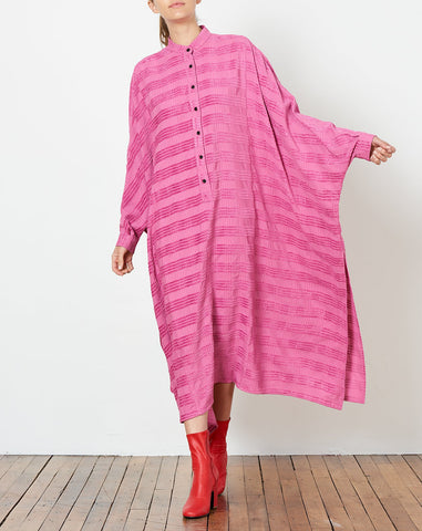 Solicitous Dress in Pink Chenille Plaid