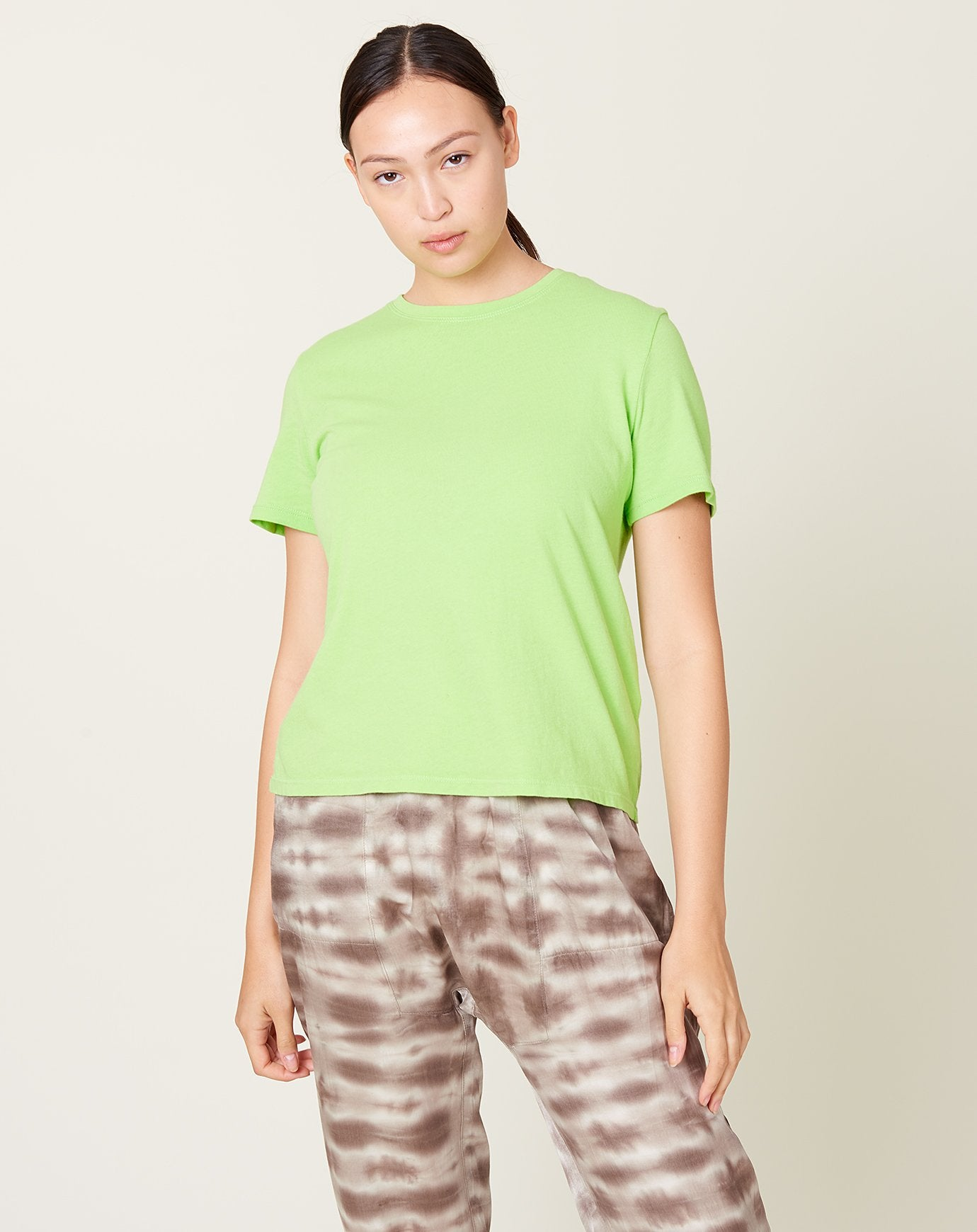 Boy Tee in Lime Green