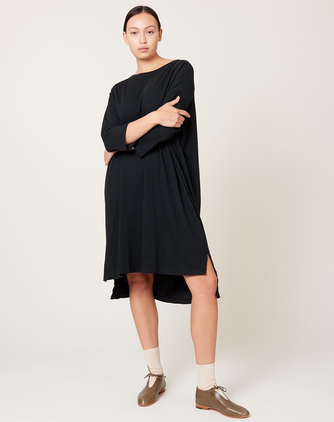 Cocoon Dress in Black