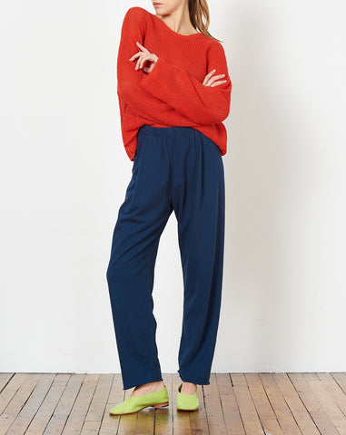 Cropped Sweatpant in Navy