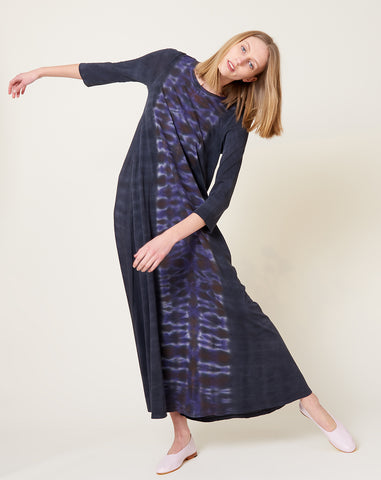 Half Sleeve Drama Maxi in Night Orchid Tie Dye