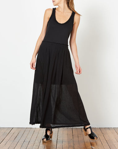 Pleated Medley Dress in Black