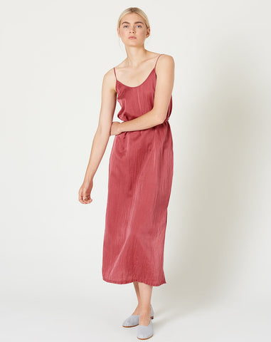 Simple Slip Dress in Redwood