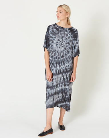 T Shirt Dress in Slate Tie Dye