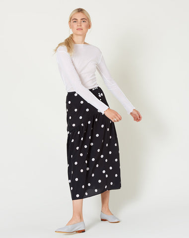 Diner Skirt in Pearl Dot