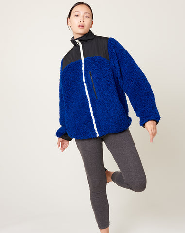 Sandy Liang Rushi Fleece in Cobalt