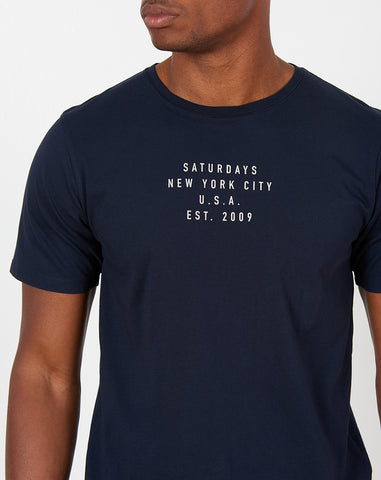 Established USA T Shirt in Midnight