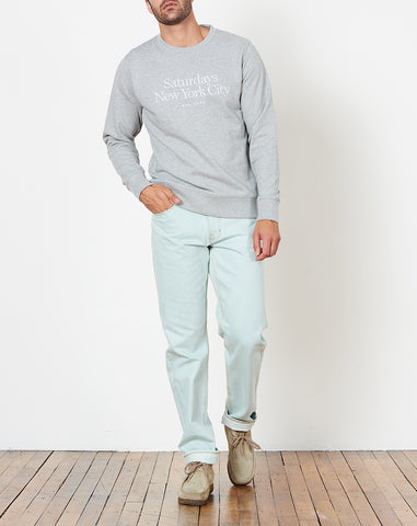 Bowery Miller Standard Embroidered Sweatshirt in Ash Heather