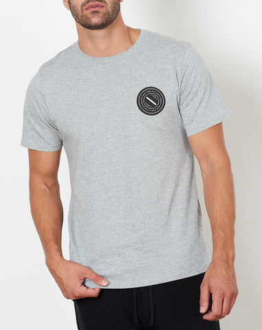 Chest Wave Patch Tee in Ash Heather
