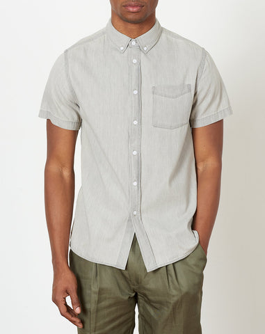 Esquina Denim Button Down Shirt in Washed Black