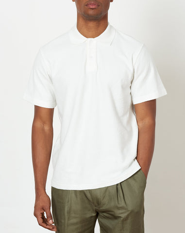 Jake Loops Short Sleeve Polo in Ivory