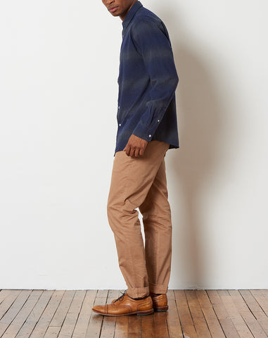 Laszlo Button Down Ombre Shirt in Midnight