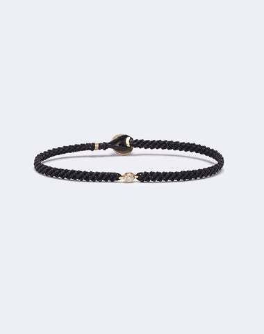 Classic Diamond Macrame Bracelet in Black