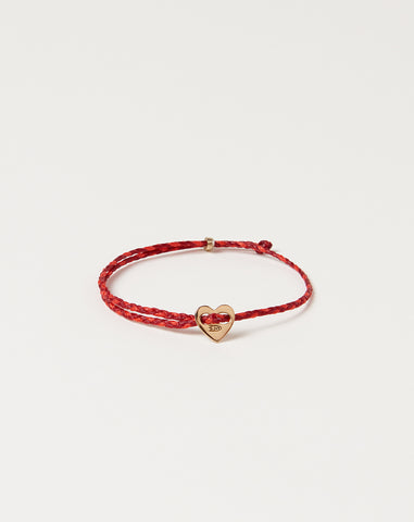 Signature Heart Slider Bracelet in Red and Hot Pink