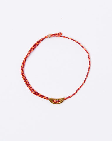 Signature Moon Slider Bracelet in Red and Neon Pink