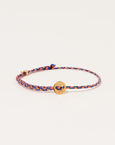 Signature Slider Bracelet in Neon Pink Royal Blue