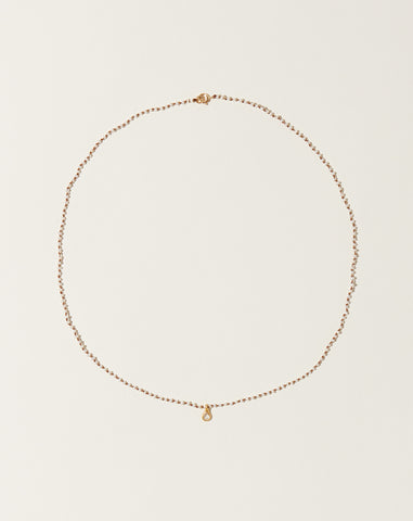 Flore Diamond Necklace in Pearl
