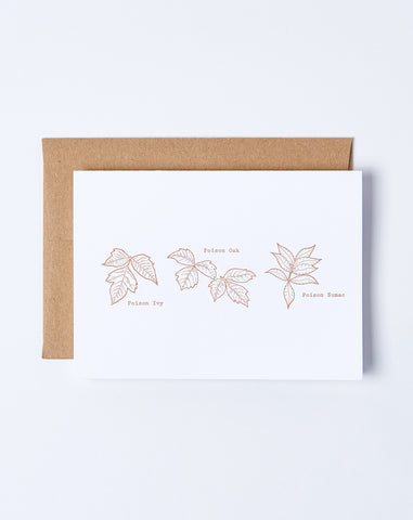 Poisonous Plants Card
