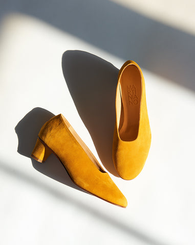 High Glove in Saffron Suede