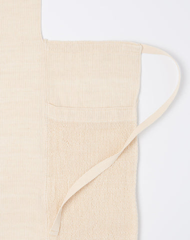 Solid Stripes Apron in Natural