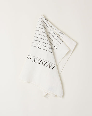 Index of Teas Tea Towel