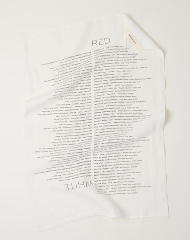 Wine List Tea Towel
