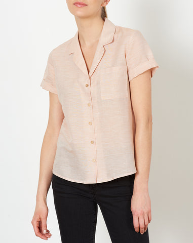 Basin Shirt in Tangerine