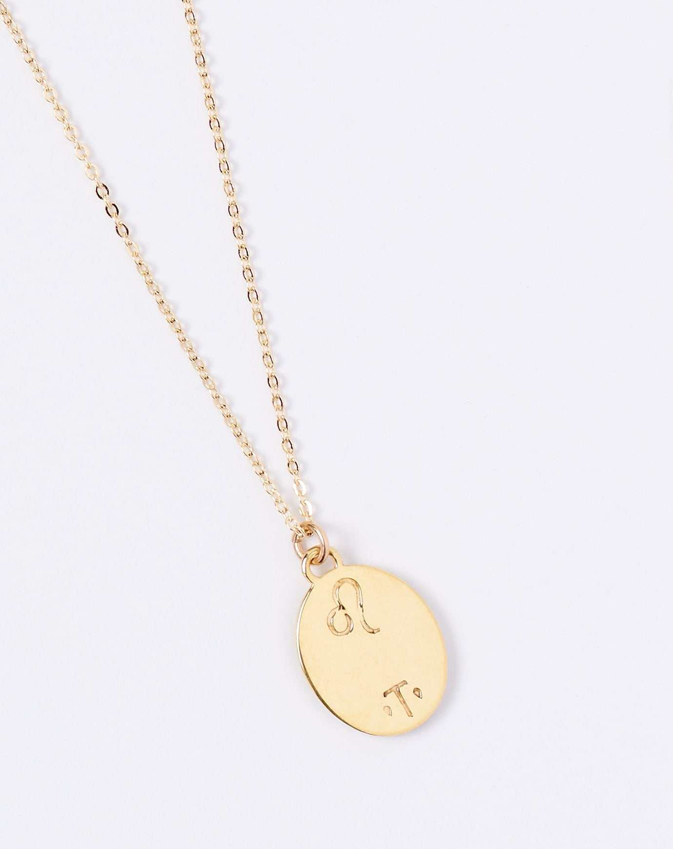 Leo Zodiac Necklace Talon Covet Lou