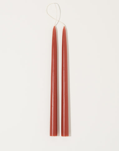 "Pair of 12"" Taper Candles in Clay"