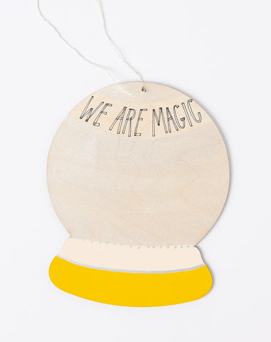 We Are Magic Wall Charm in Golden Rod and Pale Peach