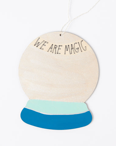 We Are Magic Wall Charm in Peacock and Sea Foam