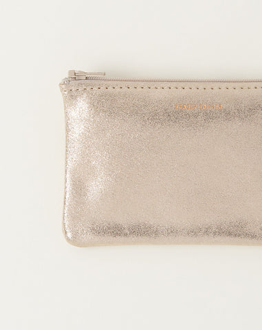 Small Zip Pouch in Champagne Sparkle