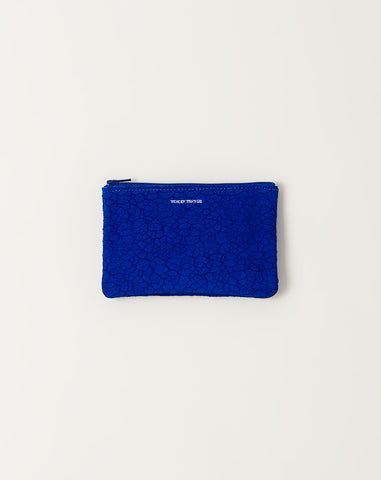 Small Zip Pouch in Distressed Cobalt