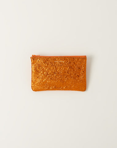 Small Zip Pouch in Sunset Crinkle