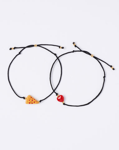Have a Pizza My Heart Bracelet Set